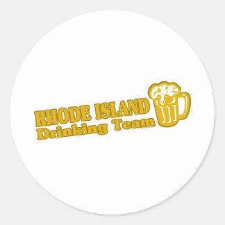 Rhode Island Drinking Team t shirts Classic Round Sticker