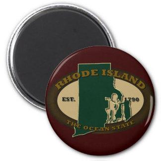 Rhode Island Est 1790 Magnet