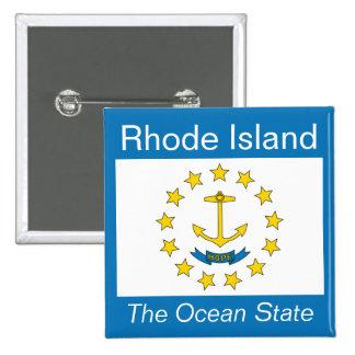 Rhode Island Flag Button