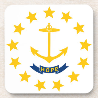 Rhode Island Flag Drink Coasters