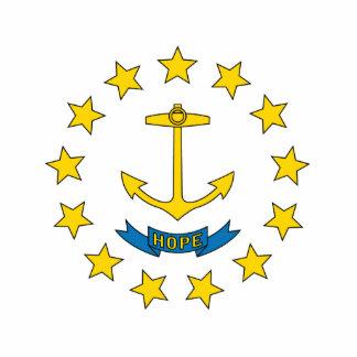 Rhode Island Flag Keychain Cut Out