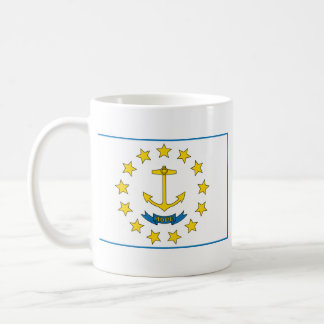 Rhode Island Flag + Map Mug