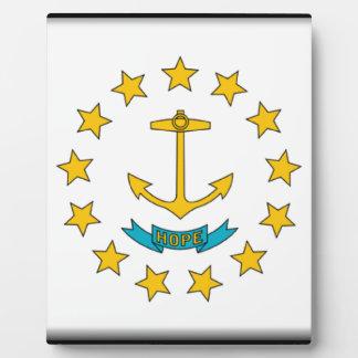 Rhode Island Flag Plaque