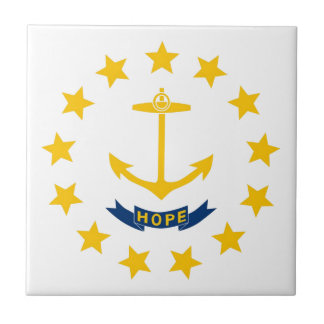 Rhode Island Flag Small Square Tile