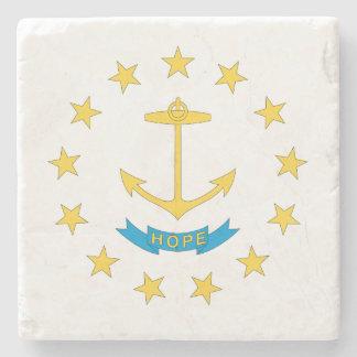 RHODE ISLAND FLAG STONE COASTER