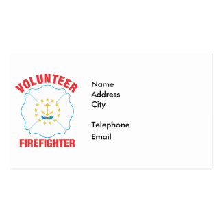 Rhode Island Flag Volunteer Firefighter Cross Pack Of Standard Business Cards