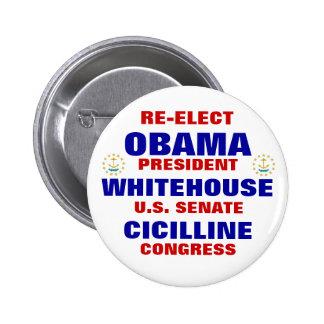 Rhode Island for Obama Whitehouse Cicilline 6 Cm Round Badge