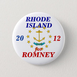 Rhode Island for Romney 2012 6 Cm Round Badge