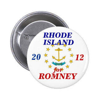 Rhode Island for Romney 2012 6 Cm Round Badge