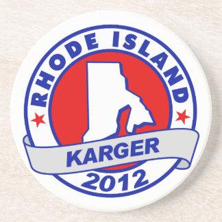Rhode Island Fred Karger Beverage Coaster