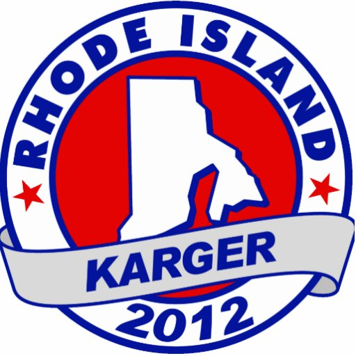 Rhode Island Fred Karger Acrylic Cut Outs