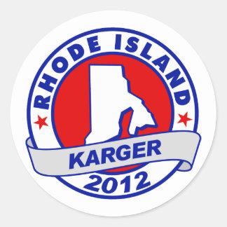 Rhode Island Fred Karger Classic Round Sticker
