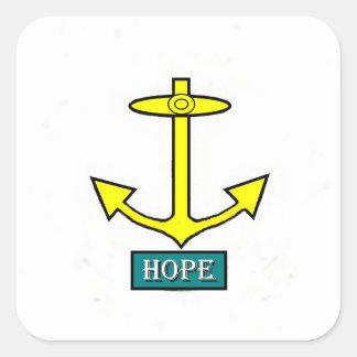 Rhode Island Hope Anchor Square Sticker