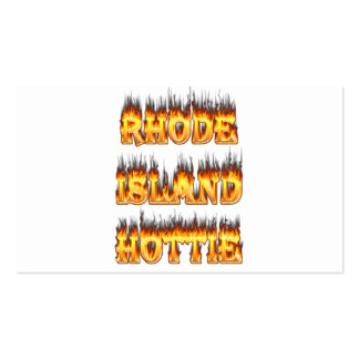 Rhode Island Hottie fire and flames Pack Of Standard Business Cards