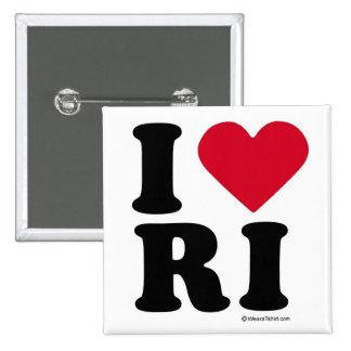 "RHODE ISLAND - ""I LOVE RI"" ""I LOVE RHODE ISLAND"" 15 CM SQUARE BADGE"