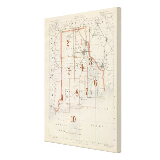Rhode Island index map Canvas Print