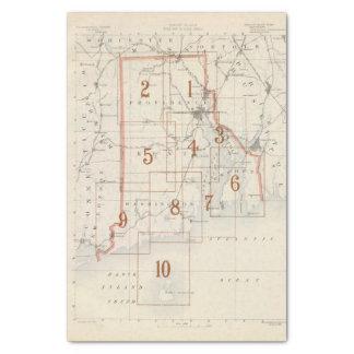 Rhode Island index map Tissue Paper
