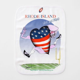 rhode island loud and proud, tony fernandes burp cloth