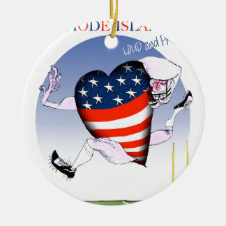 rhode island loud and proud, tony fernandes round ceramic decoration