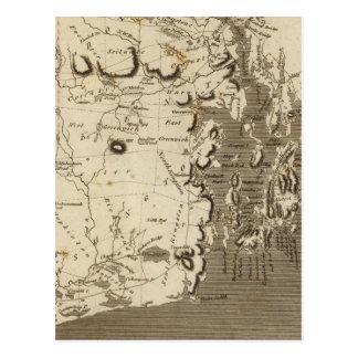 Rhode Island Map by Arrowsmith Postcard