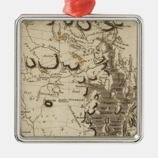 Rhode Island Map by Arrowsmith Silver-Colored Square Decoration