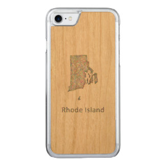 Rhode Island map Carved iPhone 8/7 Case