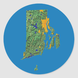 Rhode Island Map Sticker