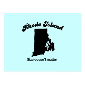 Rhode Island Motto - Size doesn't matter Postcard