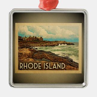 Rhode Island Ornament Vintage Travel