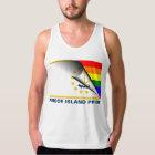 Rhode Island Pride LGBT Rainbow Flag Tank Top