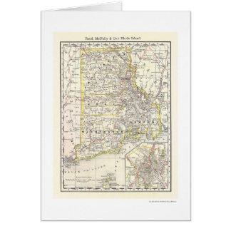 Rhode Island Railroad Map 1875 Card