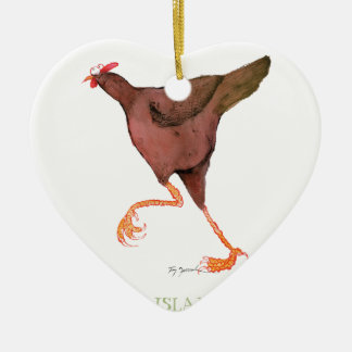 RHODE ISLAND RED HEN, tony fernandes Christmas Ornament