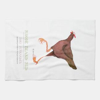 RHODE ISLAND RED HEN, tony fernandes Tea Towel