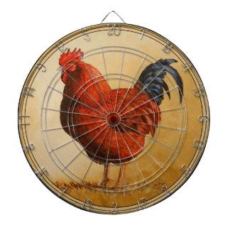 Rhode Island Red Rooster Chicken Dartboards