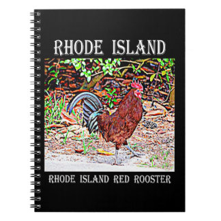 Rhode Island Red Rooster Notebook