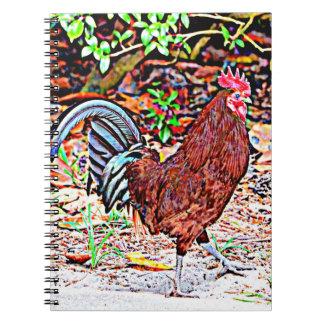 Rhode Island Red Rooster Spiral Notebook