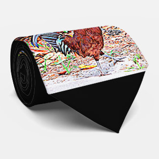 Rhode Island Red Rooster Tie