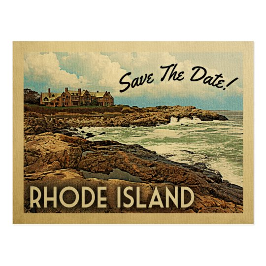 Rhode Island Save The Date Vintage Postcards