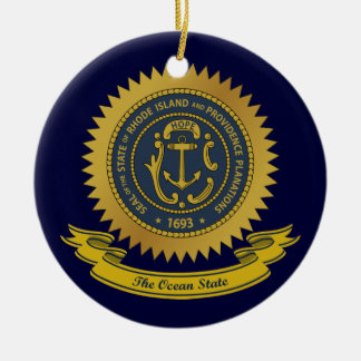 Rhode Island Seal Christmas Ornament