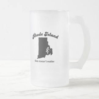 Rhode Island - Size doesn't matter Frosted Glass Mug