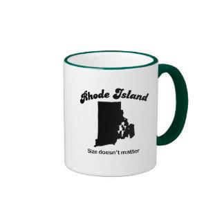 Rhode Island - Size doesn't matter Ringer Mug