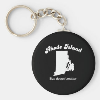 Rhode Island - Size doesn't matter T-shirt Basic Round Button Key Ring