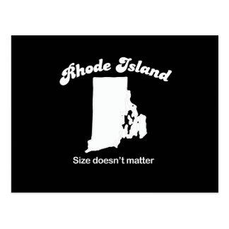 Rhode Island - Size doesn't matter T-shirt Post Cards