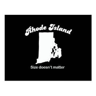 Rhode Island - Size doesn't matter T-shirt Post Card