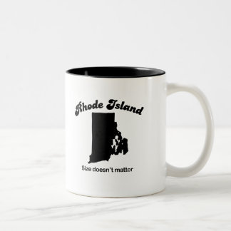 Rhode Island - Size doesn't matter Two-Tone Mug
