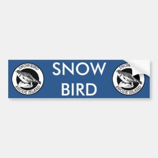 Rhode Island Snowbird Shield Bumper Sticker