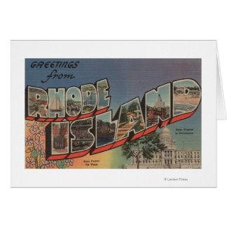 Rhode Island (State Capital/Flower) Card