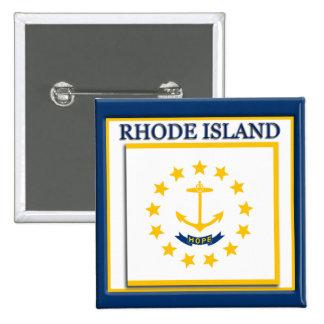 Rhode Island State Flag Design Button