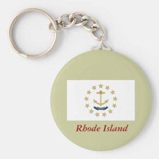 Rhode Island State Flag Key Ring
