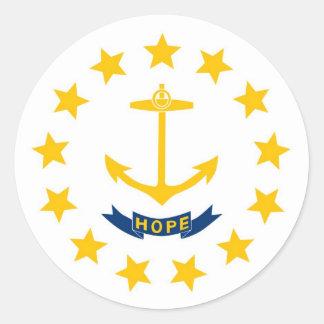 Rhode Island State Flag Round Sticker